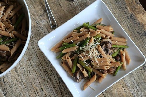 Asparagus & Mushroom Pasta 2