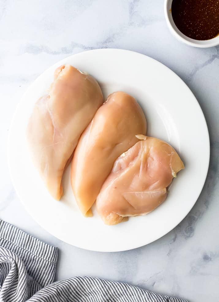 overhead photo of chicken breast