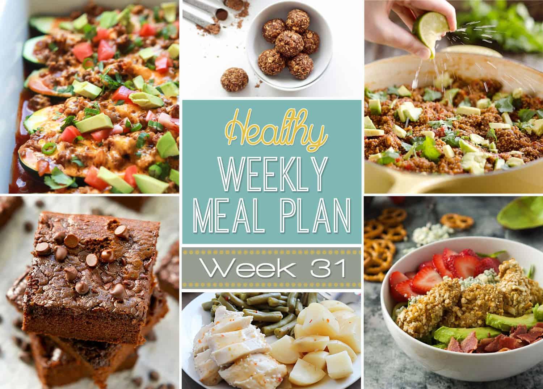 Healthy Meal Plan Week 31