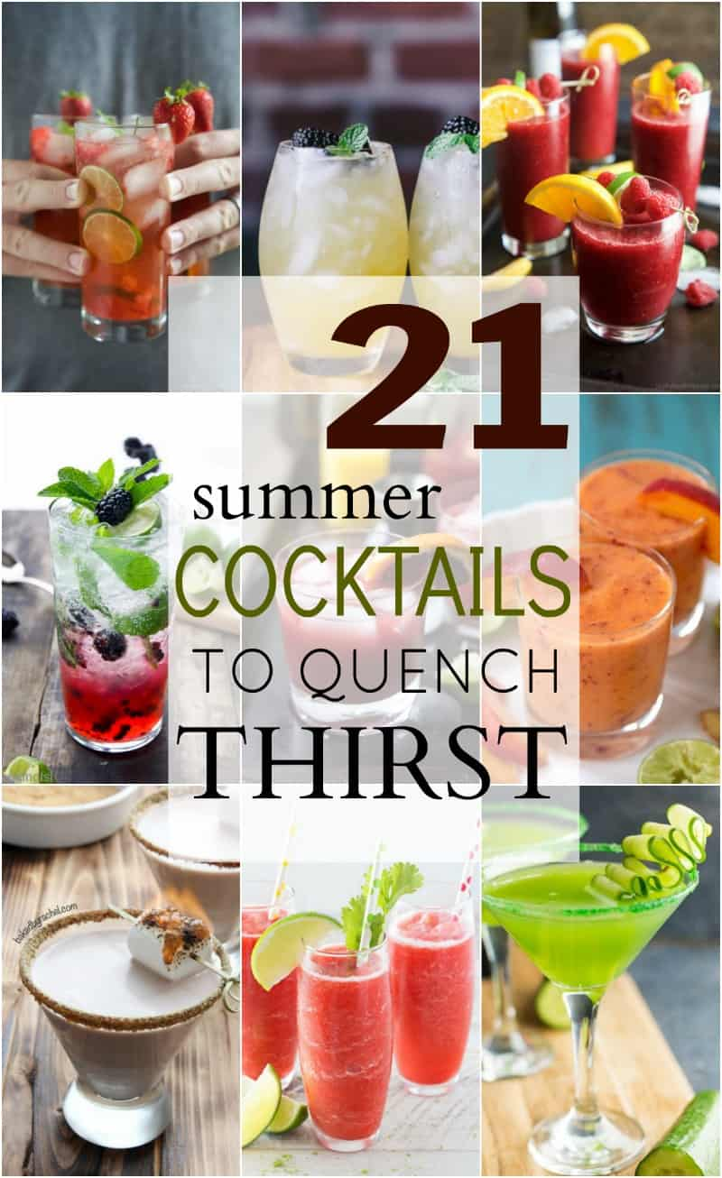 21 Summer Cocktails To Quench Your Thirst Easy Healthy Recipes