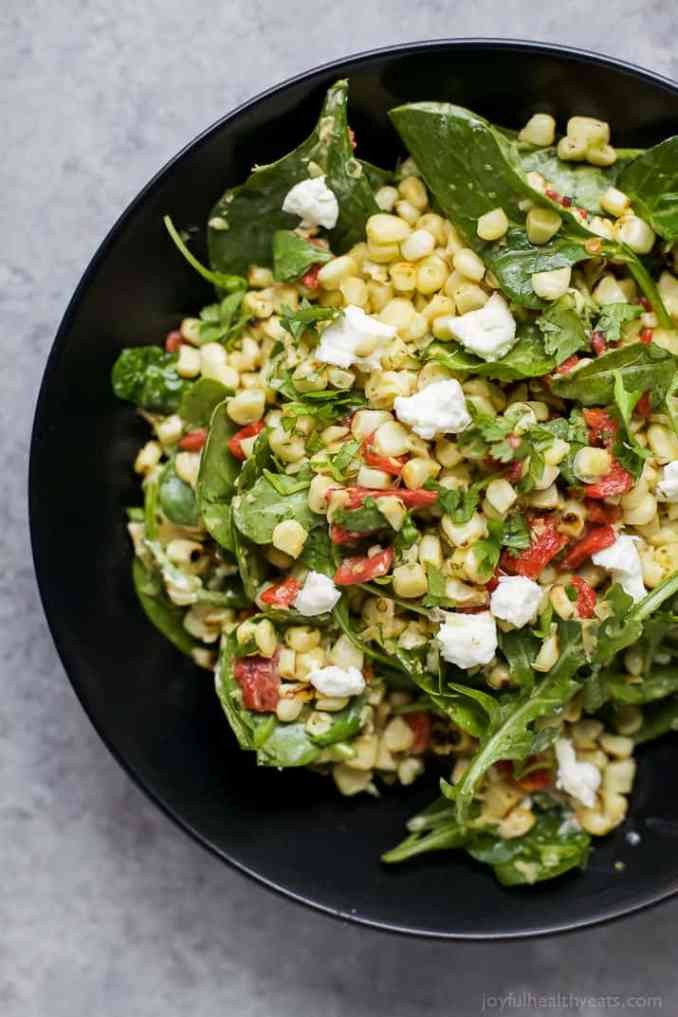 Grilled Corn Salad with Jalapeno Dressing | Easy Healthy