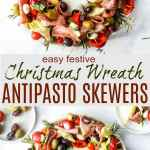 Christmas Wreath Antipasto Skewers Easy Party Appetizer Idea