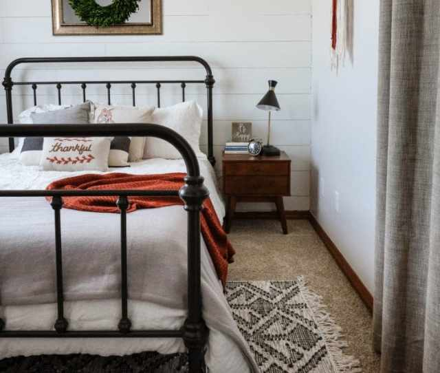 Farmhouse Bedroom With Nightstand