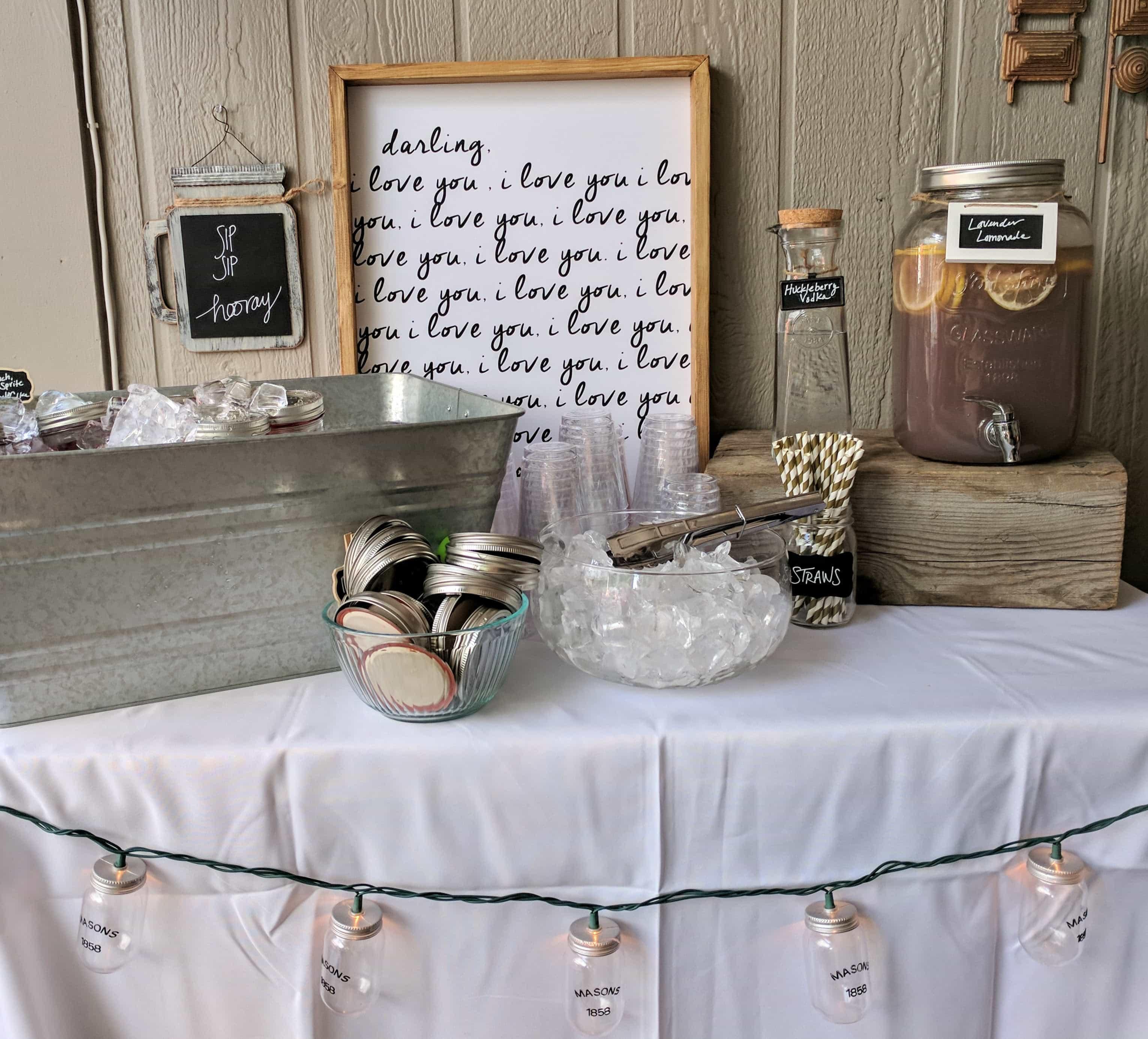 Romantic Backyard Bridal Shower
