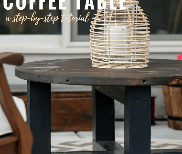 Rustic Coffee Table On A Budget Text Overlay Diy Rustic Coffee Table A Step