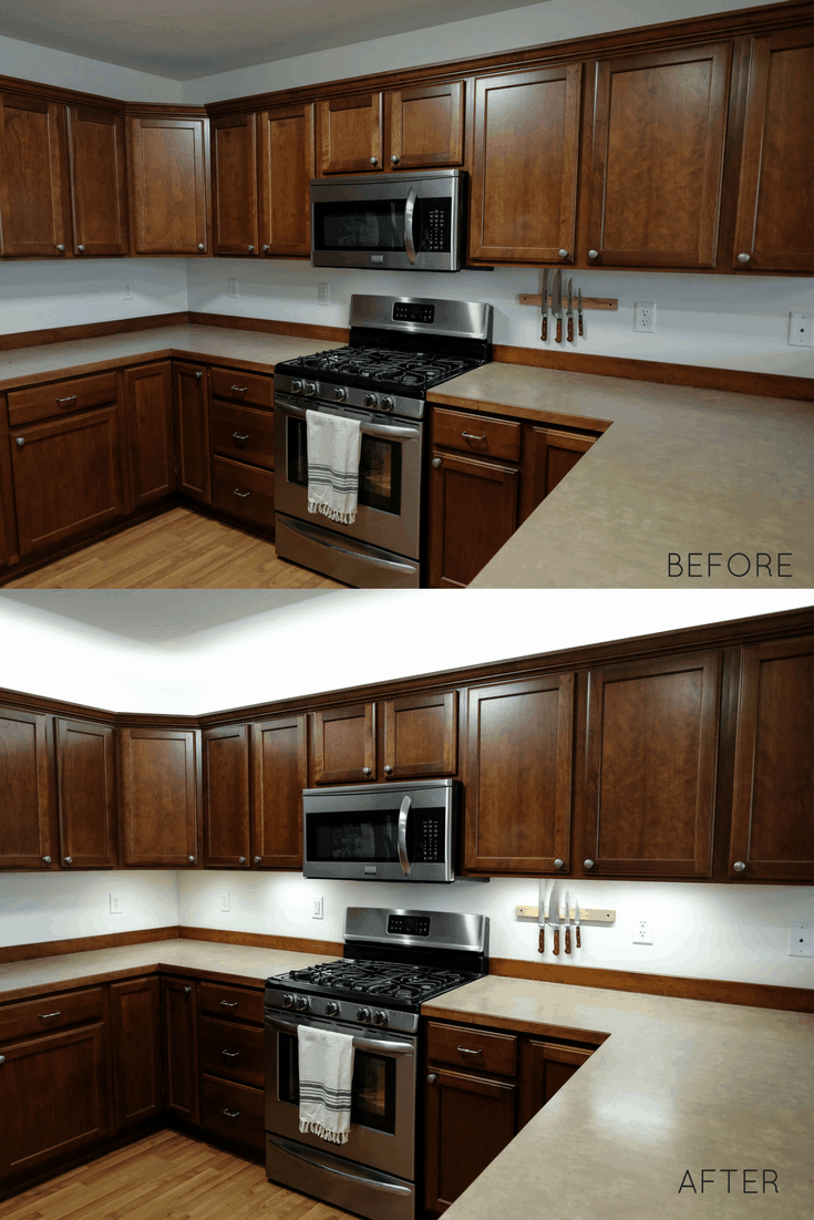 How to Add Cabinet Lighting On A Budget (in Just 30 Minutes!)