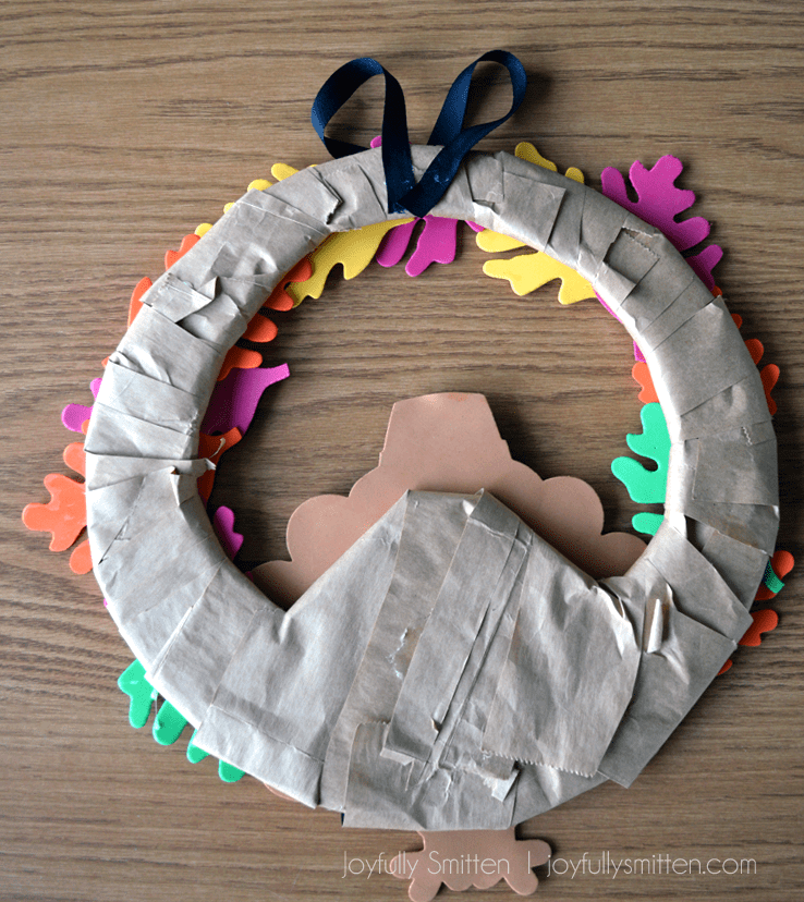 Backside of Turkey Wreath