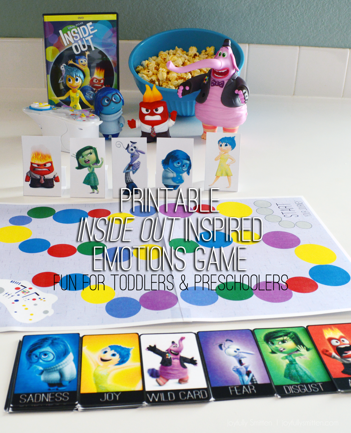Inside Out Inspired Emotions Board Game. Teach and discuss emotions with your toddler or preschooler in this fun game starring the emotions from Inside Out