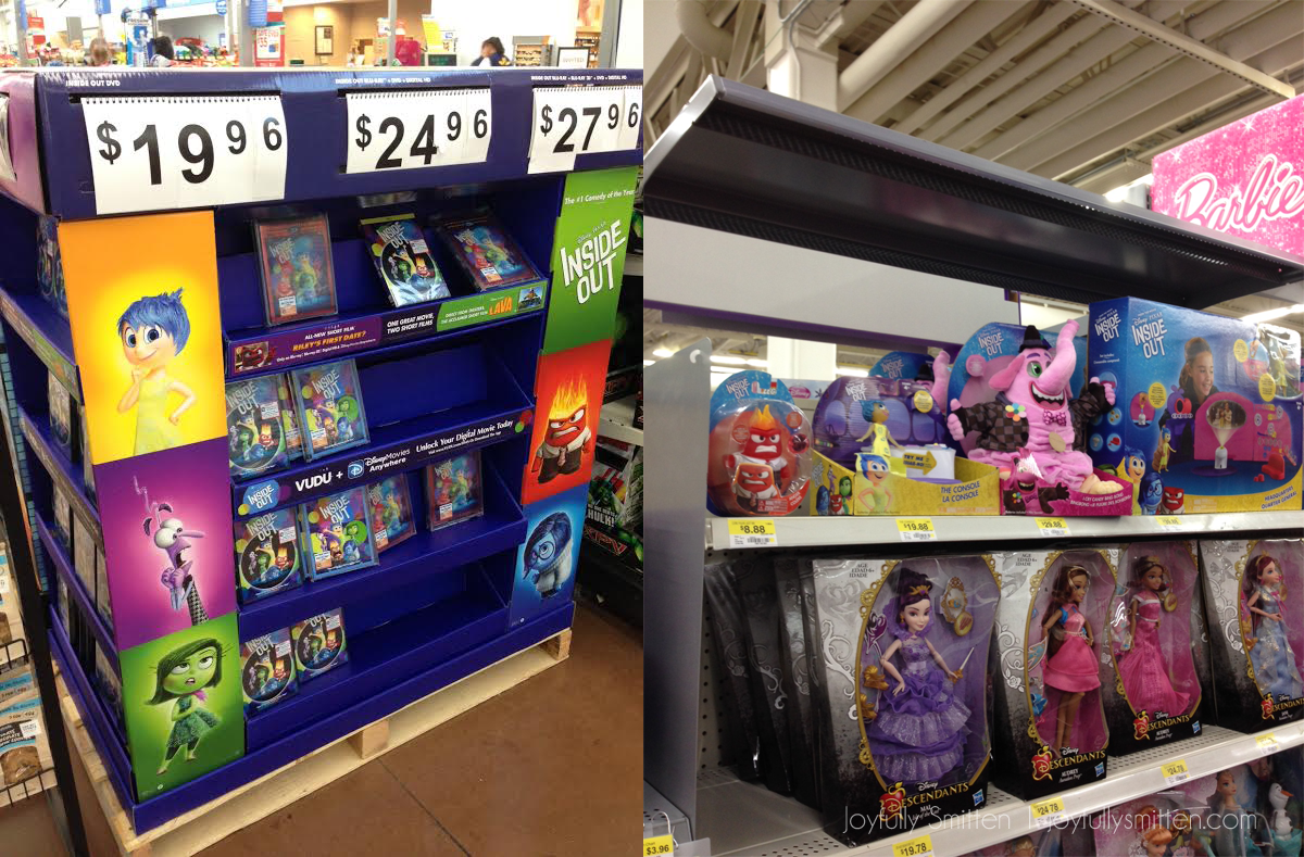 Inside Out TOMY displays