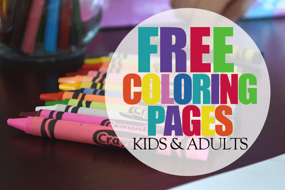 Get Free Coloring Pages + A List of Fun places to find coloring pages for kids and adults. Also a Crayola giveaway at the bottom!