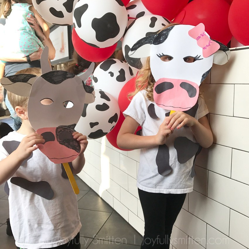 Chick-fil-A Cow Appreciation Day Printable Mask - Joyfully