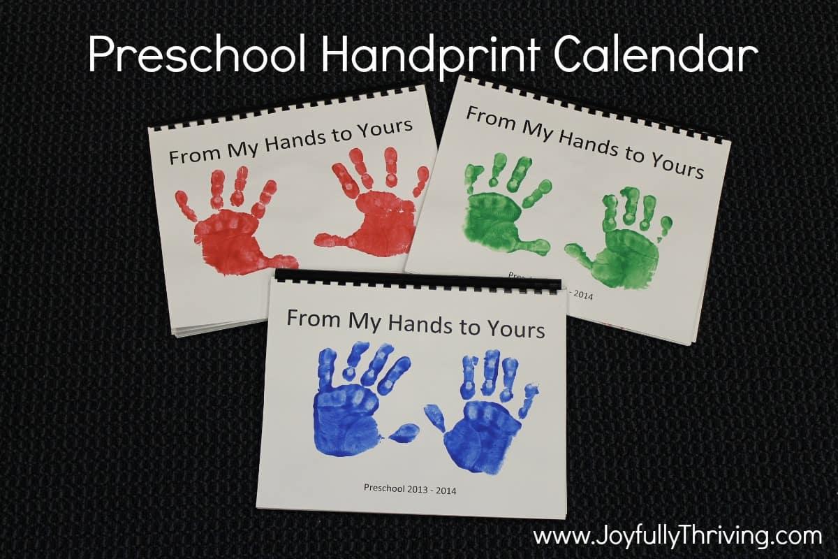 Preschool Handprint Calendar