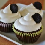 Oreo Cupcakes with Whipped Marshmallow Frosting