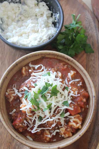 Lasagna Soup {Slow Cooker}