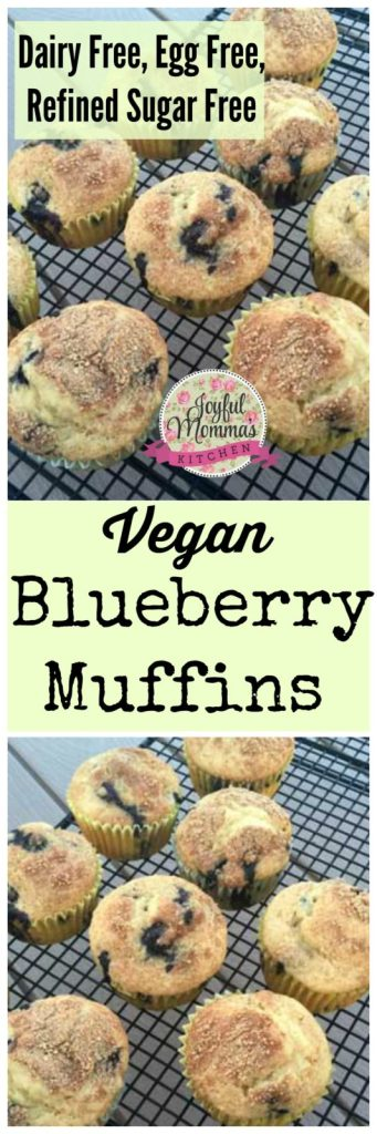 These dairy free, egg free Vegan Blueberry Muffins are also refined sugar free. Use a maple sugar and indulge in this perfect breakfast treat!