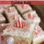 Candy Cane Kiss Cookie Bars