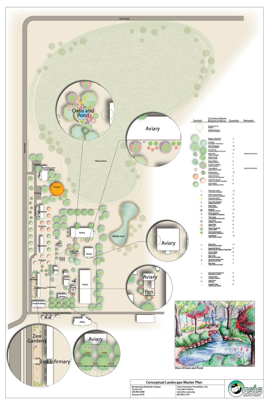 Oasis Bird Sanctuary Landscape Plan
