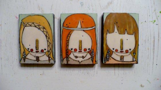 Boho Girl Trio by Lia Lane