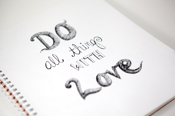 Do All Things With Love Hand Lettered Illustration by Kimberly Kling Joyful Roots