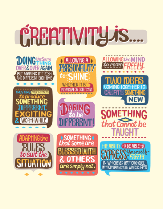 Creativity Is... by Justin Poulter