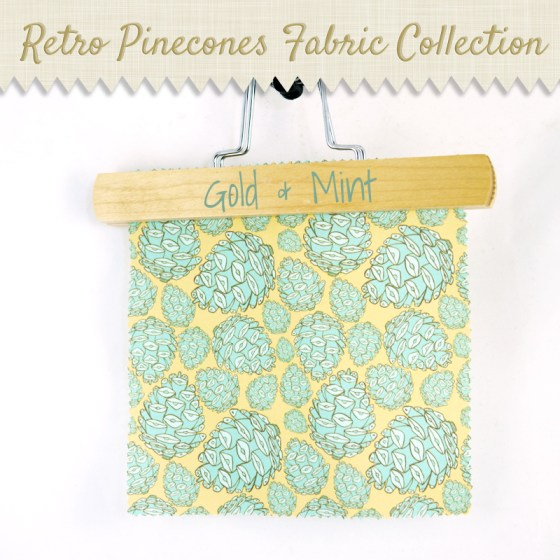 gold mint retro pinecones pinecones woodland nature spoonflower wallpaper wrapping paper