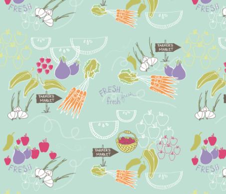 Farmer's Market Fabric Pattern Spoonflower