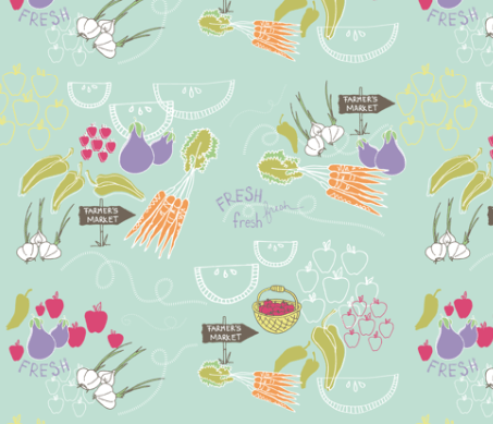 Farmer's Market Fabric Pattern Spoonflower