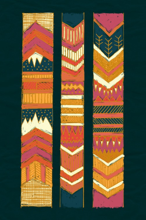 Navii Native Chevron Tribal Southwest Art Print