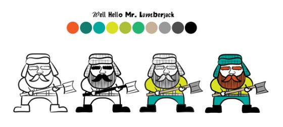 Mr. Lumberjack Attack Design