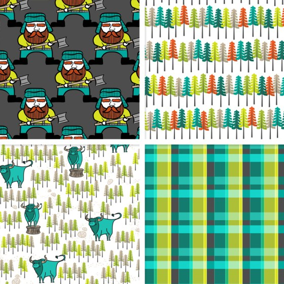 Lumberjack Fabric Presale Limited Edition by Joyful Roots