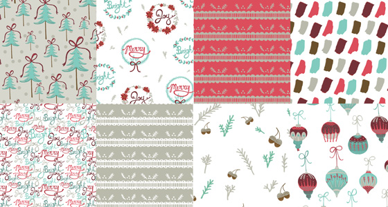 Sara Does Holiday Fabric Patterns