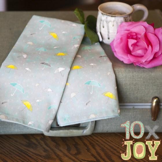 10xJOY Limited Edition Umbrella Tea Towels