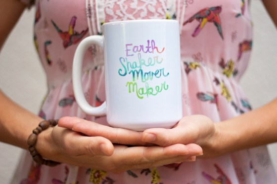 Earth Shaker Mover Maker Coffee Mugs Inspirational Tea Lover Coffee Lover Gift