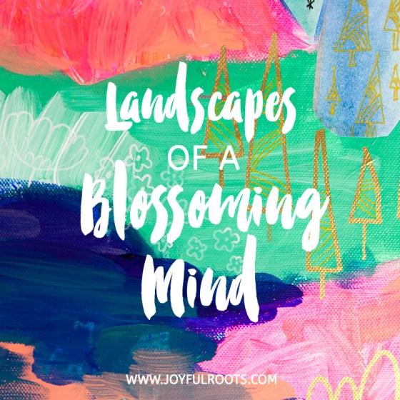 Mixed Media Art Illustrations Colorful Children Nature Marks Linework