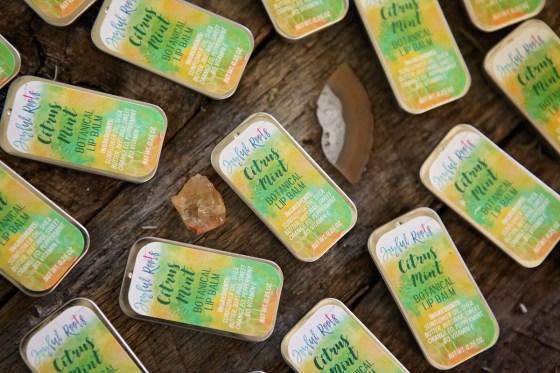 Citrus Mint Lip Balm Free from Joyful Roots 100 percent natural and botanical
