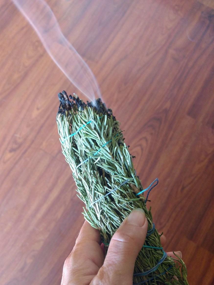 Rosemary and Sage Smoke Medicine Bundles Wands