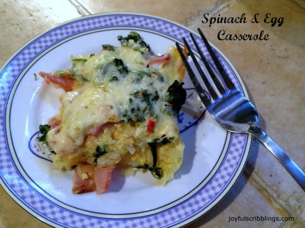 spinach & egg casserole