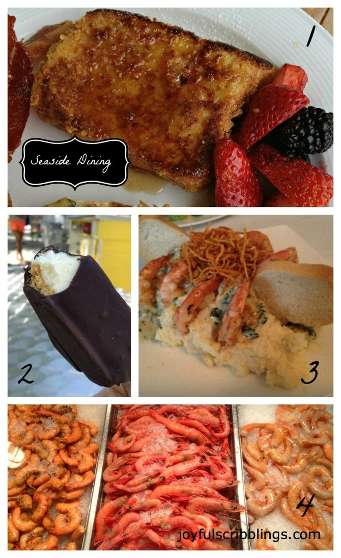 seaside dining collage
