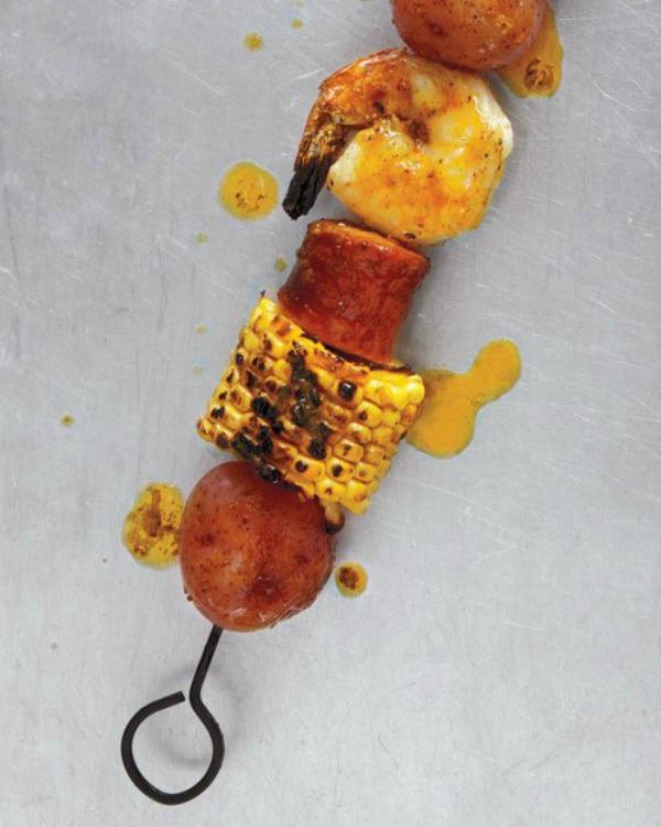 shrimp boil kebab