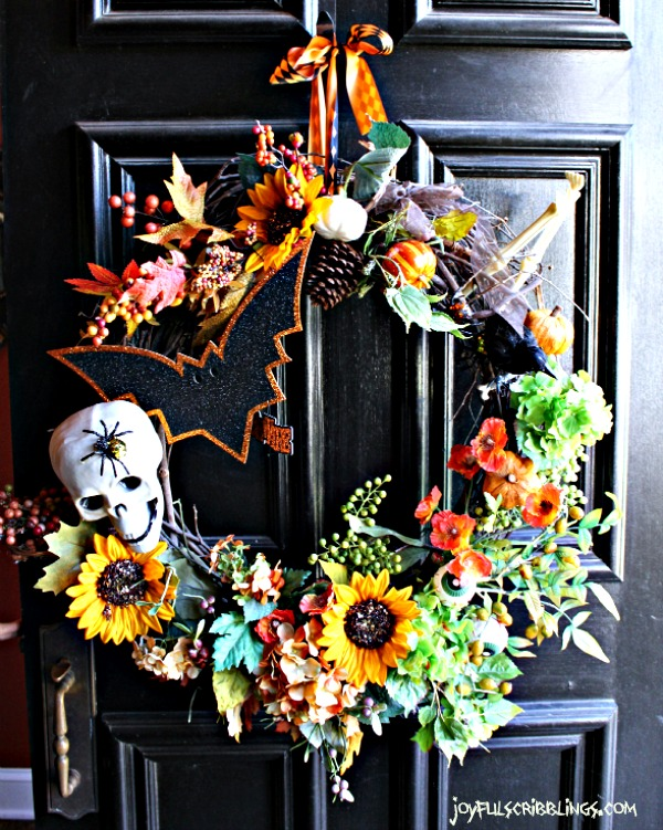 #spooky Halloween wreath