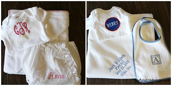 #baby monogramed gifts