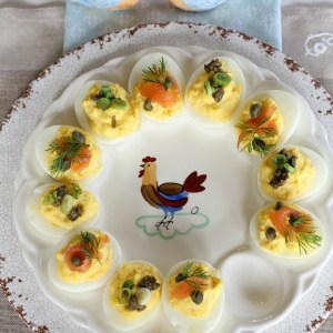 #deviled egg topping ideas