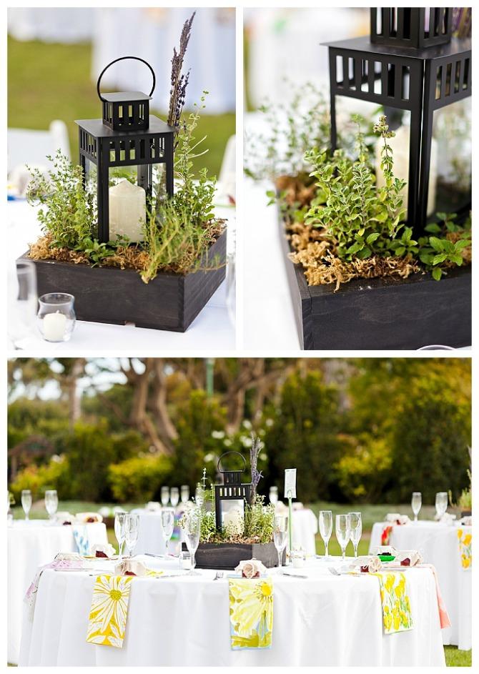 #herb garden centerpiece