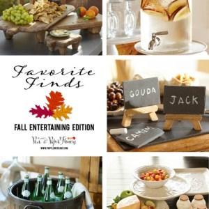 Fall Entertaining Serveware