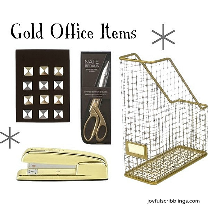 gold office items