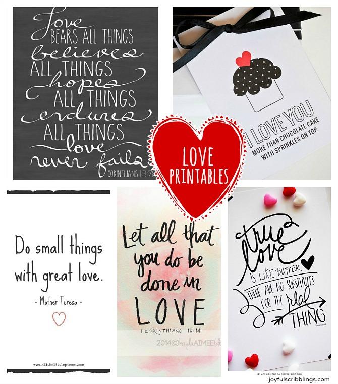 Download Five Free Printable Love Quotes - JOYFUL scribblings