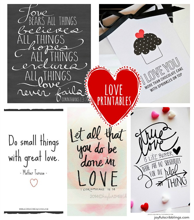 Free Printable Valentine S Quote: Five Free Printable Love Quotes
