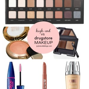 high-end vs drugstore makeup products