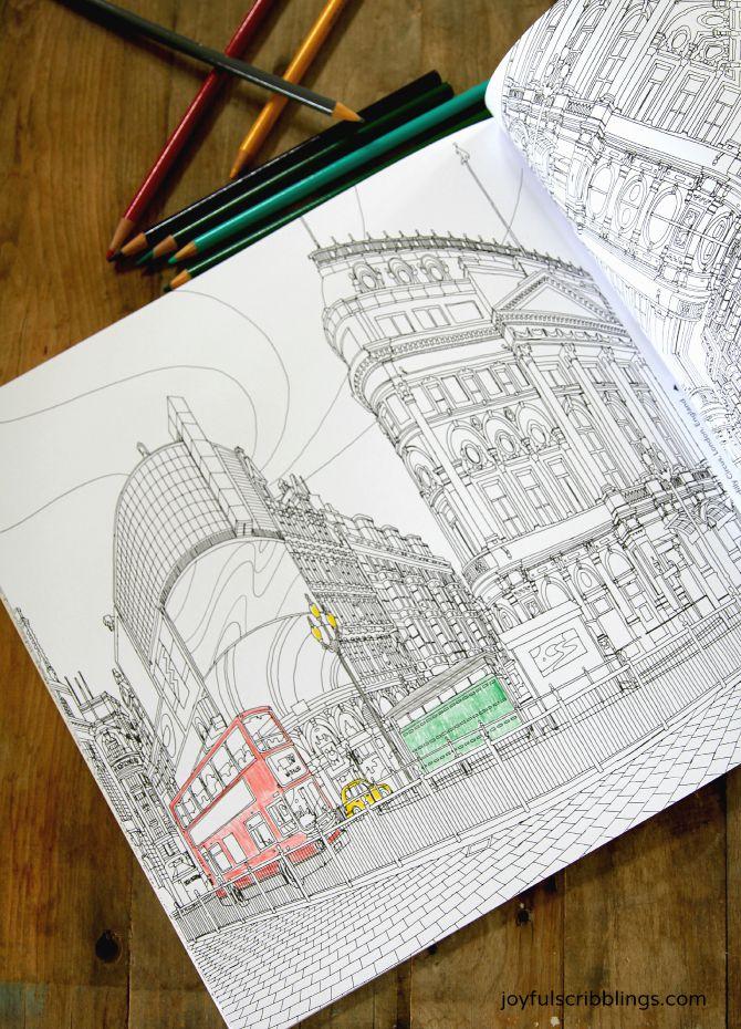Fantastic Cities Coloring Book 2