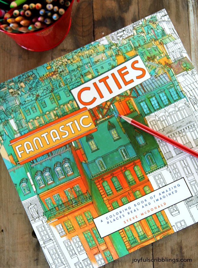 Fantastic Cities Adult Coloring Book